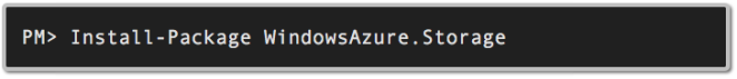 Windows Azure Storage Nuget Package
