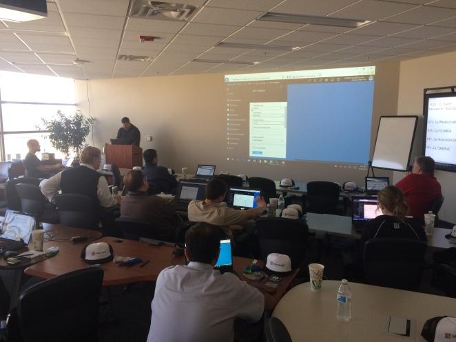 Tony Sebion presenting on Azure Data