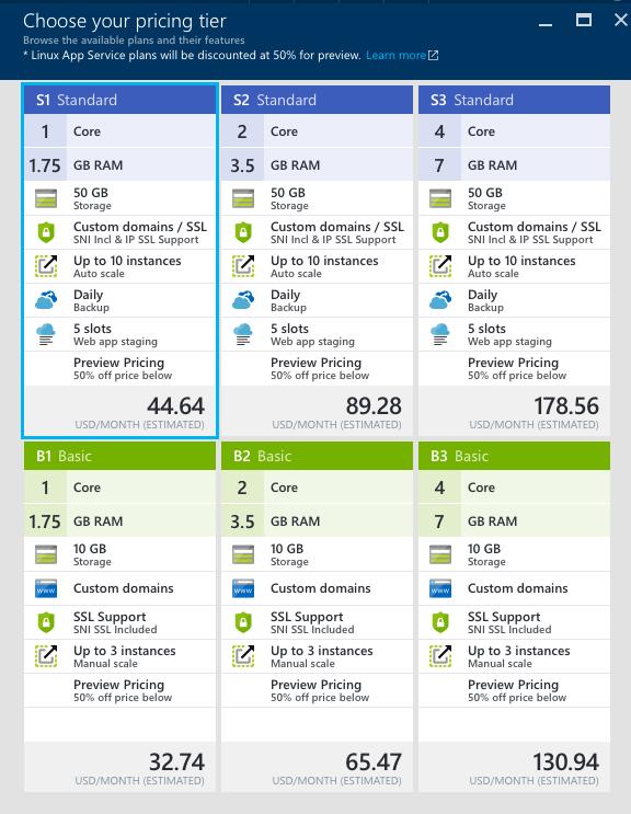 webapponlinux_preview_pricingtiers